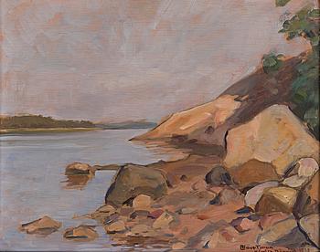 AXEL HAARTMAN, olja på pannå, signerad Kimito Rönnudd 1942.