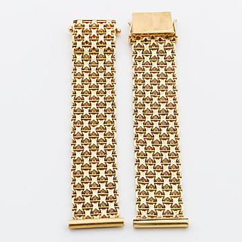 ARMLÄNK till armbandsur, 18K guld,