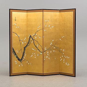 A 21st century Japanese folding screen.
