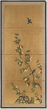 A 20th century Japanese folding screen.
