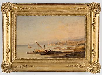OKÄND KONSTNÄR, 1800-tal, olja på duk, signerad och daterad 1838.