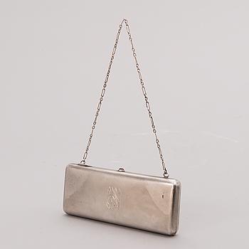 AFTONVÄSKA, silver, mästarstämpel PD (kyrilliska bokstäver), Moskva 1908-17.
