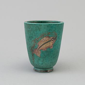 WILHELM KÅGE, WILHELM KÅGE, an 'Argenta' stoneware vase from Gustavsberg.