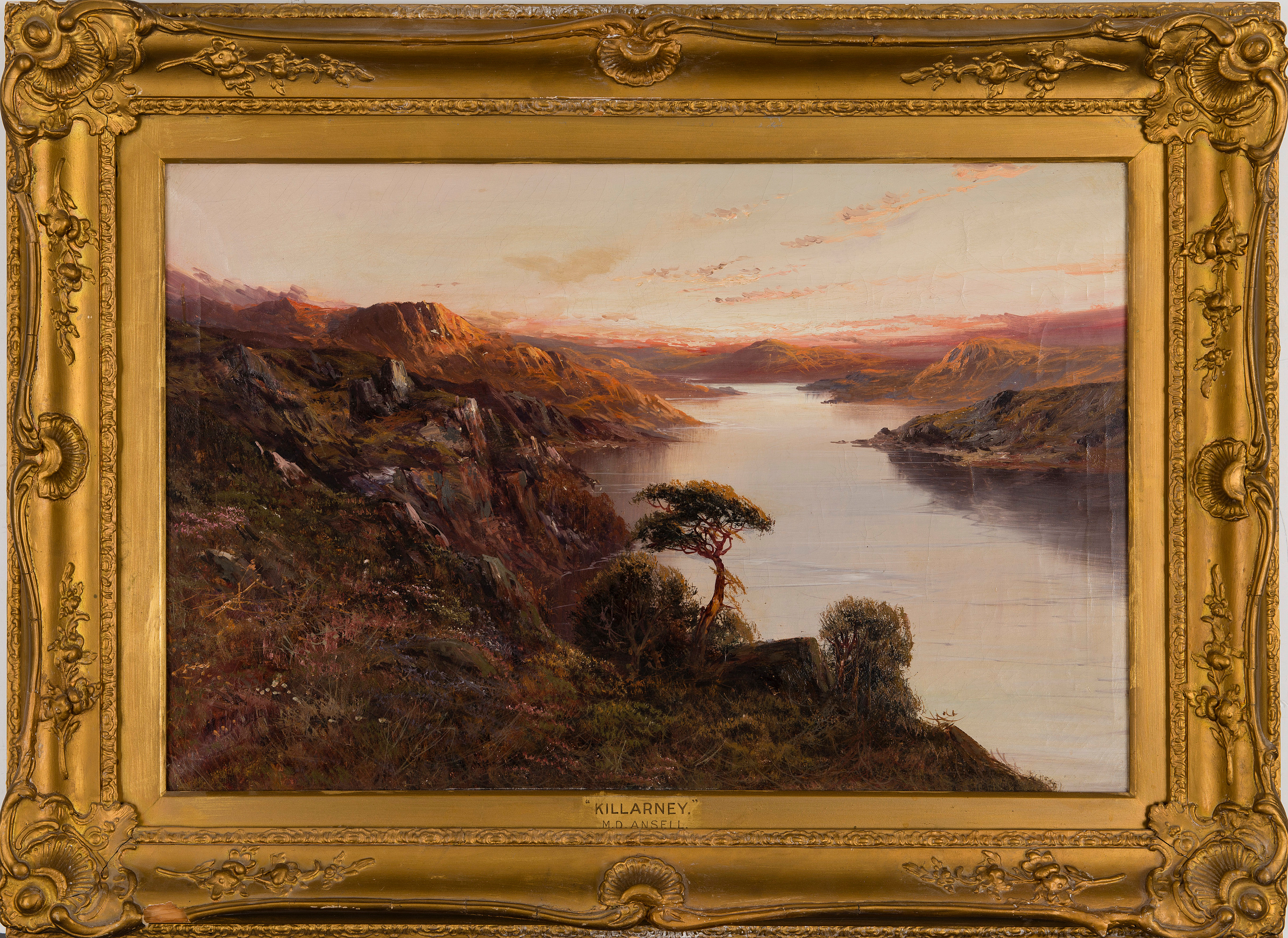 oil on canvas, signed M D Ansell and dated 19  - Bukowskis