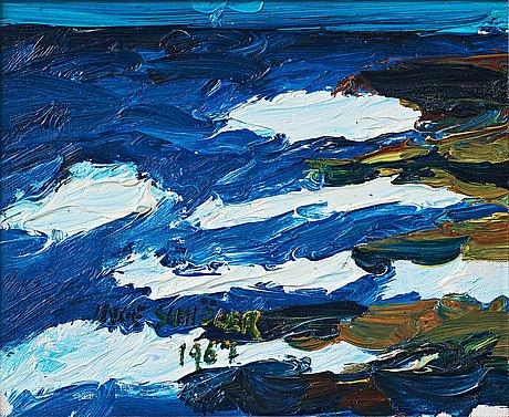 """Inge schiöler, """"bränningar"""" (waves)."""