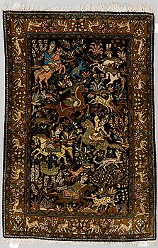 MATTA, Old silke Ghom, ca 125 x 83 cm.
