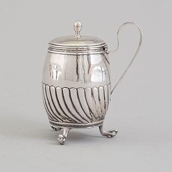 SENAPSKANNA, silver, Johan Gustaf Åkerman, Stockholm 1827.