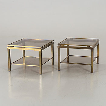 A PAIR OF SOFA/SIDE TABLES, second half of 20th century.
