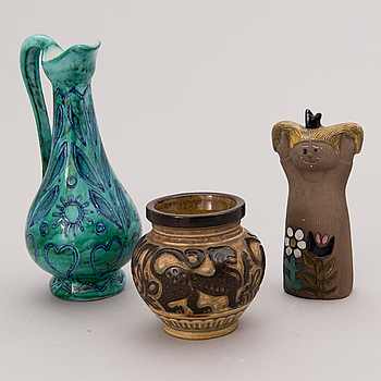 Three Swedish and Finnish ceramic objects, mid-second half of 20th Century.