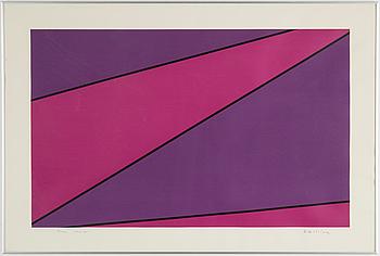 OLLE BAERTLING, färgserigrafi, signerad Baertling, daterad 1974-80 samt numrerad 9/100 med blyerts.