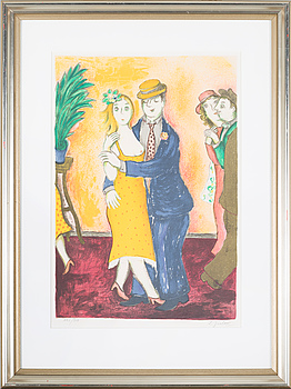 LENNART JIRLOW, LENNART JIRLOW, a litograph in color, signed and numbered 291/310.