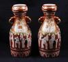 Urnor, ett par, porslin, kutani, japan 1800-tal.