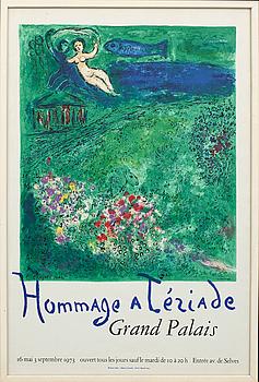 MARC CHAGALL, affisch, Mourlot, Paris 1973.