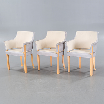 """Three """"Riksdagen"""" armchairs by Åke Axelsson for Gärsnäs, late 20th century."""