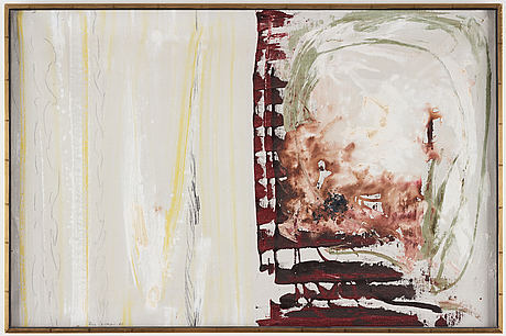 Rune jansson, oil on canvas, signed and dated -60.