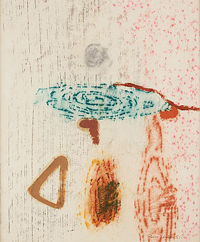RUNE JANSSON, frottage on paper, signed and dated -51.