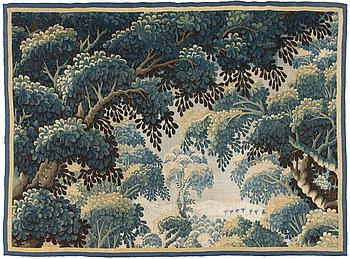 61. A 18th century Flemish tapestry panel.