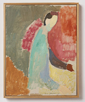 RUNE JANSSON, oil on canvas, signed and dated -49.