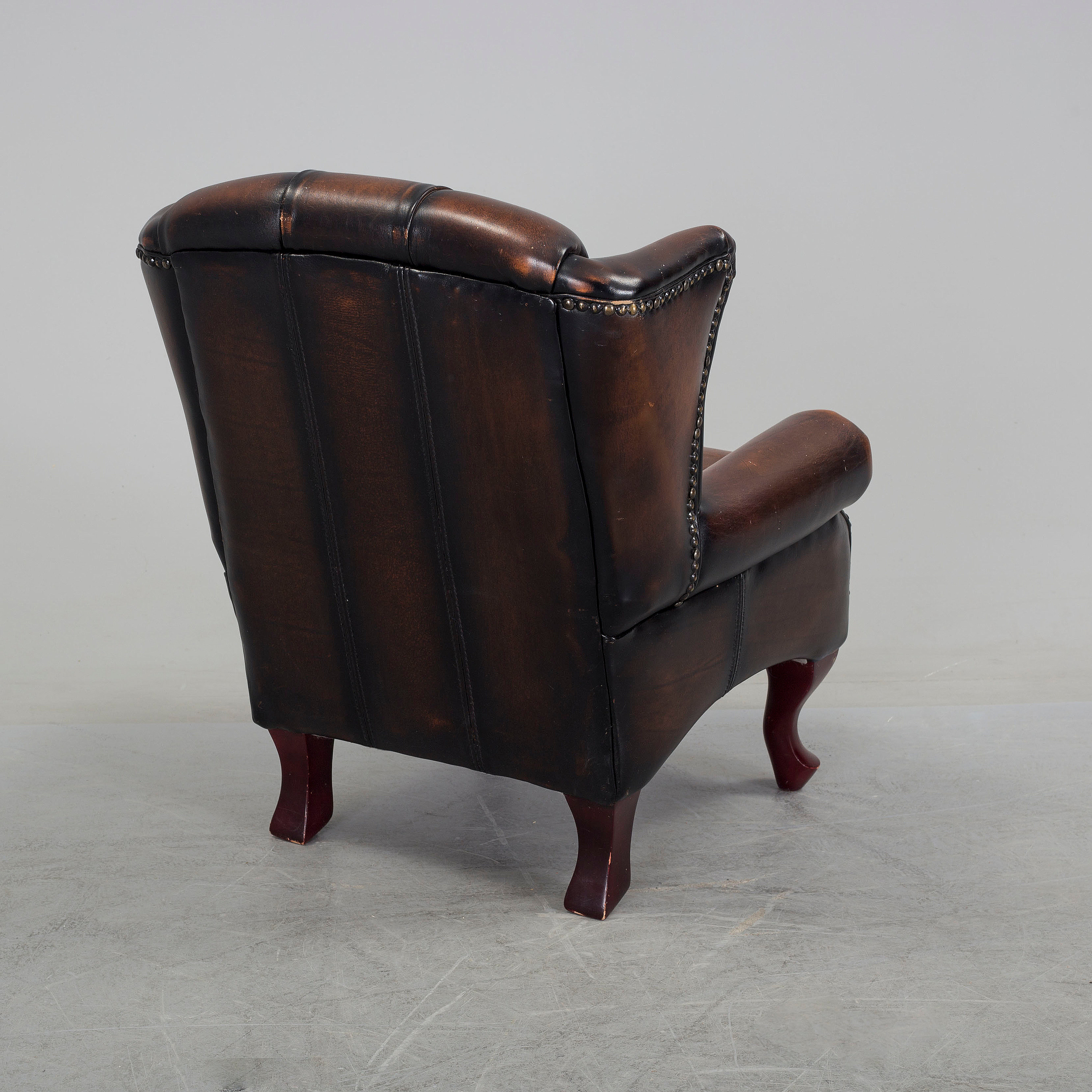 A Childrenu0027s Leather Upholstered Wing Chair, Late 20th ...
