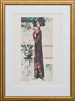 JOSEP BAQUÉS, colour lithographe with relief, signed and numbered 200/275.