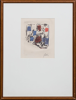 FRITZ WINTER, etching in colours, signed and numbered 1/100.