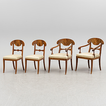 a set of four mid 19th century chairs.