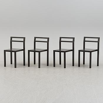 """STOLAR, fyra stycken, """"Non"""", Boris Berlin och Poul Christiansen för Källemo, Värnamo."""