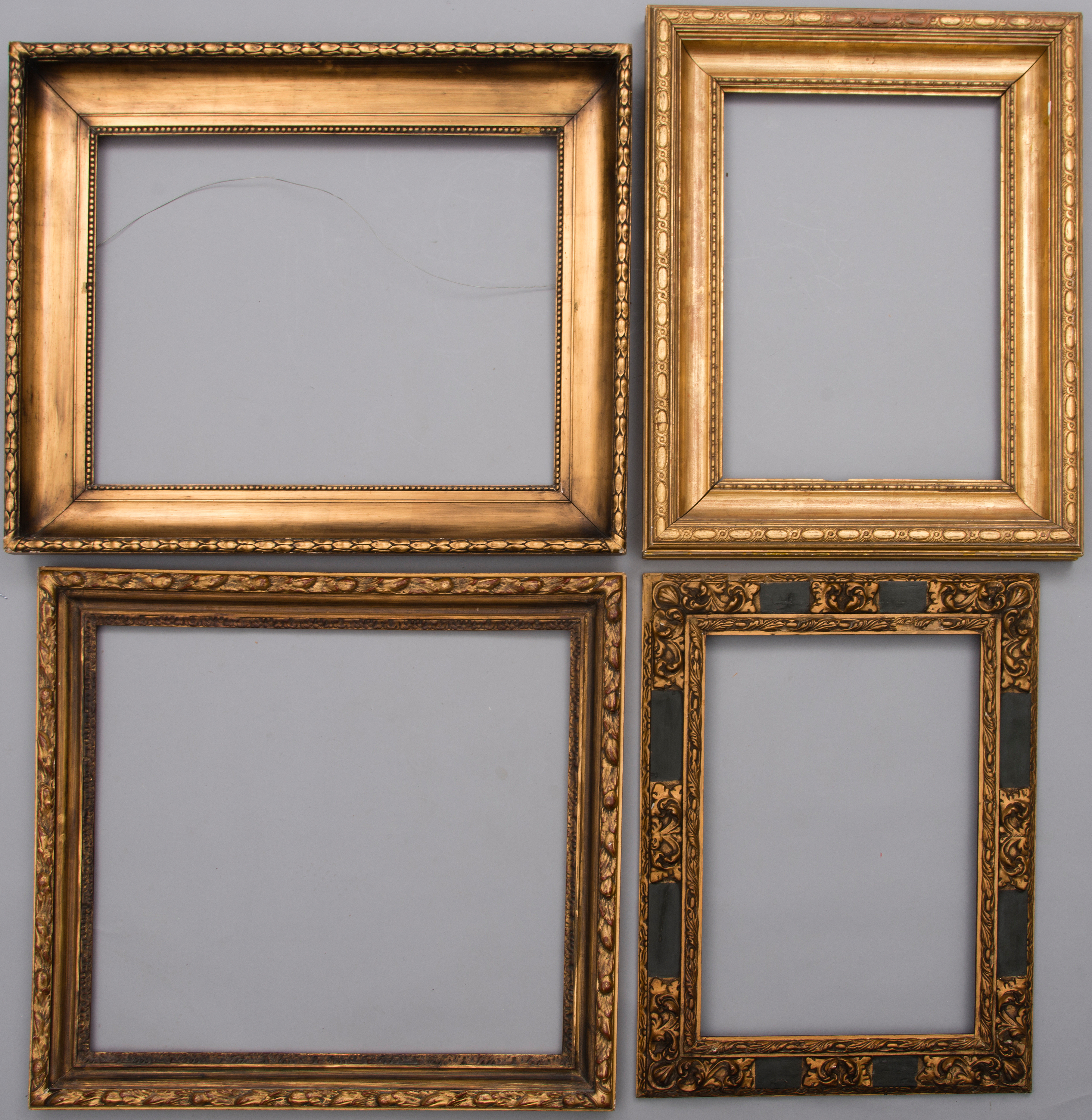 Four frames, the late 19th century and the early 20th century ...