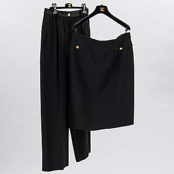 SKIRT AND A PAIR OF TROUSERS.