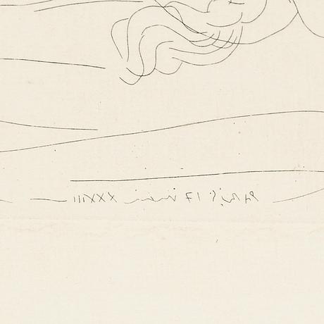 Pablo picasso, etsning, 1933, upplaga om 250