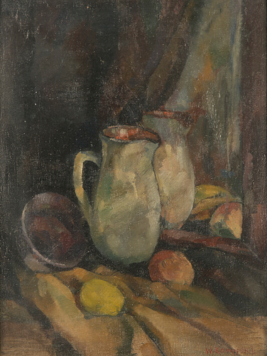 Väinö kamppuri, oil on canvas fastened on board, signed.