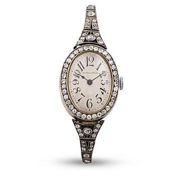 106. A WRIST WATCH, Borel & fils, old cut diamonds, 14k (56) gold. Bragin Andrey (AБ), St Petersburg, early 20th century.