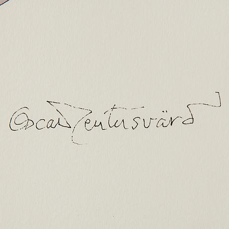 Oscar reutersvÄrd, eatercolour, signed
