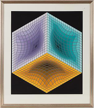 VICTOR VASARELY, färgserigrafi, signerad Vasarely och numrerad EA XVII/XXX med blyerts.