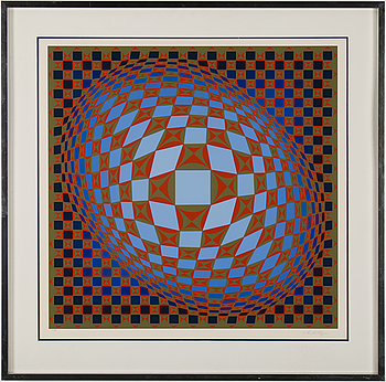 VICTOR VASARELY, silk screen, signed and numbered 31/275.