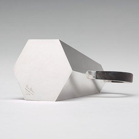 Wiwen nilsson, a sterling coffee pot with ebony handle, lund 1956.