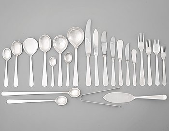 145. Wiwen Nilsson, a set of 168 pieces of sterling flatware, Lund, Sweden the later part of the 20th C.