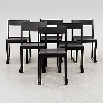 A set of six 'Orkesterstolen' chairs by Sven Markelius.