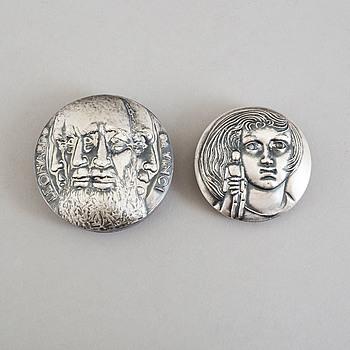 KAUKO RÄSÄNEN, medaljer, 2 st, silver, Sporrong, 1975-9.