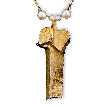 "112. Björn Weckström, NECKLACE, ""Pilvet"", cultured pearls, 14K gold. Lapponia 1967."