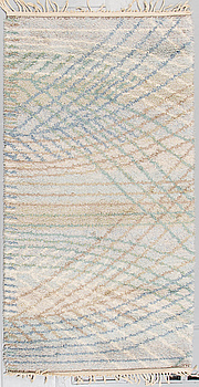 """BARBRO NILSSON, matta, rya, """"Marina, ljus"""", signerad AB MMF BN, 185 x 102 cm."""
