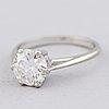 A ring, brilliant cut diamond, 18k white gold. a. tillander 1983