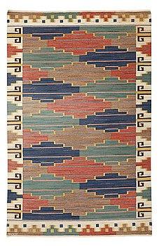 """211. Märta Måås-Fjetterström, A CARPET, """"Blå heden"""", flat weave, ca 273,5 x 181,5 cm, signed AB MMF."""