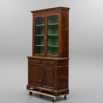 An early 20th century mahogny display cabinet.