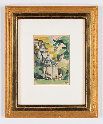 André lhote, park scene with building.