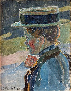 325. Carl Wilhelmson, Girl with a hat.
