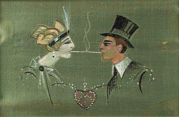 309. Gösta Adrian-Nilsson, Cigarettkyss.