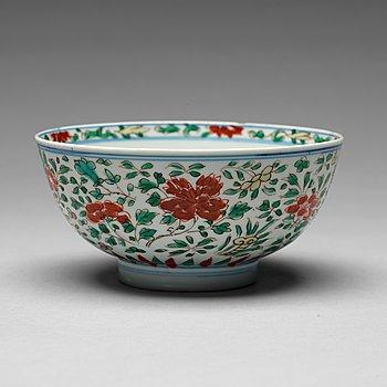 135. SKÅL, porslin. Mingdynastin, 1600-tal, med Chenghuas märke.