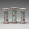 Three famille rose vases, qing dynasty, qianlong (1736-95).