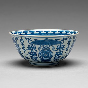 209. SKÅL, porslin. Qingdynastin, Kangxi (1662-1722).